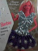 Barbie Card  Happy Holidays 1995