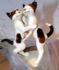 Cat - Dancing Cats Romantic On Base