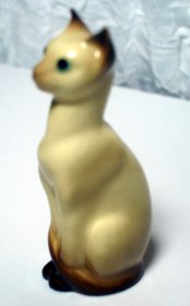 Cat - Siamese Sitting Bowling Pin Style 3