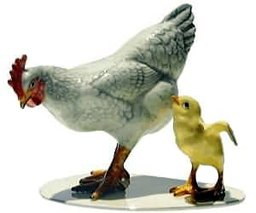 Specialties - Bird Hen & Chick On Base