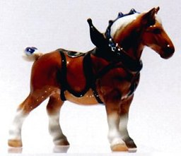 Horse - Draft W/ Harness Blue